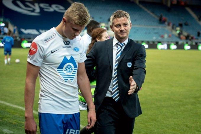 Solskjaer và Haaland từng làm việc cùng nhau hơn một năm tại đội một Molde - CLB quê nhà Na Uy.