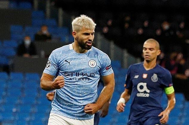 Do chấn thương, Aguero mới đá chính 5 lần cho Man City mùa này và ghi 3 bàn. Ảnh: Reuters.