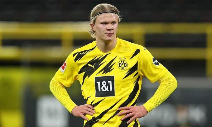 Haaland đang được nhiều CLB lớn tranh giành dù mới thi đấu cho Dortmund hơn một năm. Ảnh: Marca.