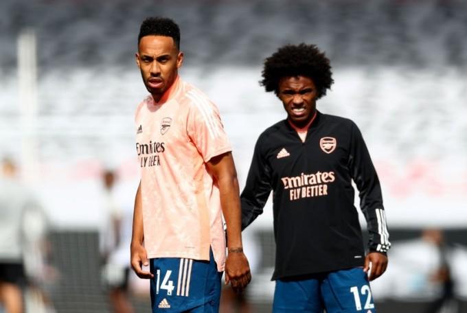Willian và Aubameyang được cho là những cái tên mà Petit thất vọng và muốn Arsenal thanh lý. Ảnh: Reuters