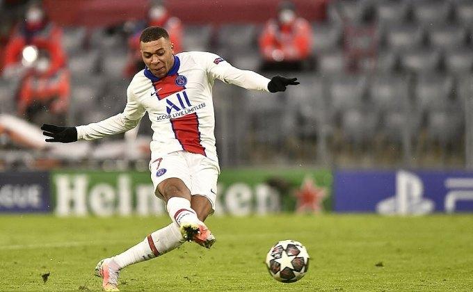 Mbappe ghi bảy bàn sau tám trận tại Champions League mùa này. Ảnh: EPA.