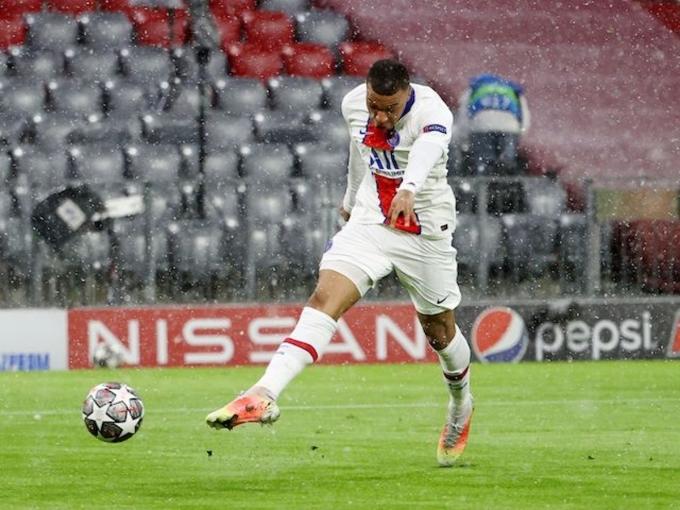 Mbappe ghi dấu giày ở 37 bàn trong 34 trận cho PSG tại Champions League. Ảnh: Reuters.