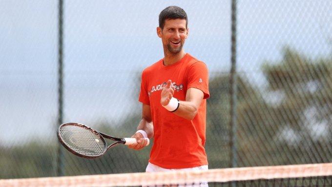 Djokovic đã có 16 ngày ăn tập tại Monaco để chuẩn bị cho Monte Carlo Masters năm nay. Ảnh: ATP.