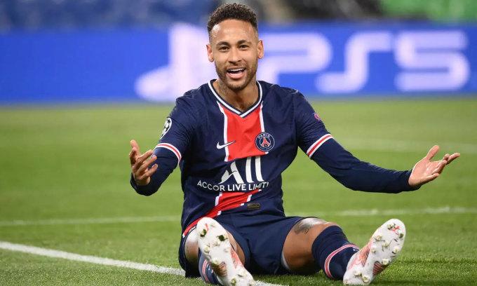 Neymar trong trận tứ kết Champions League lượt về gặp Bayern. Ảnh: AFP.