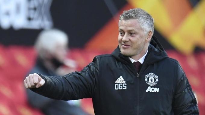 Solskjaer có lần thứ năm vào bán kết một giải đấu Cup với Man Utd. Ảnh: EFE.