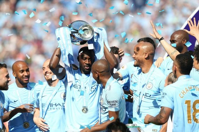 Yaya Toure từng đoạt bảy danh hiệu cùng Man City, trong đó có ba chức vô địch Ngoại hạng Anh. Ảnh: EPA