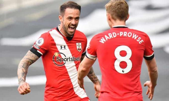 Bàn mở tỷ số của Ings không thể giúp Southampton giành điểm trên sân Tottenham. Ảnh: MB.