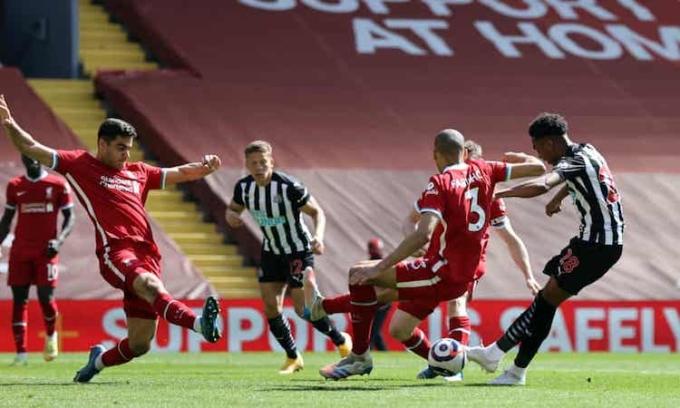 Willock  trận thứ hai liên tiếp trở thành người hùng của Newcastle. Ảnhh: PA.