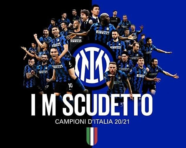 Bức ảnh được chọn mừng chức vô địch Serie A của Inter sau 11 năm. Ảnh: Inter Milan