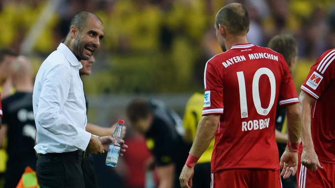 Sức sáng tạo của Guardiola giúp các học trò như Robben phát huy tối đa những khả năng tiềm ẩn. Ảnh: Imago