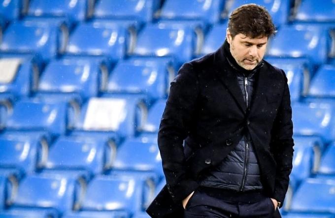 Pochettino và PSG thua Man City cả hai lượt, dù được đánh giá cao không kém. Ảnh: EFE.
