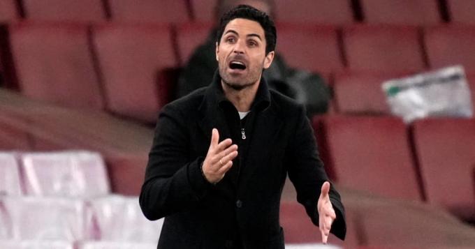 Arteta chịu nhiều áp lực trong mùa giải sa sút của Arsenal. Ảnh: Goal.