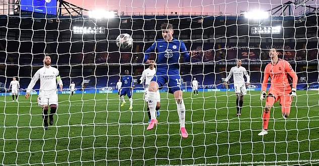Werner mở tỷ số trận bán kết lượt về Champions League. Ảnh: EPA.
