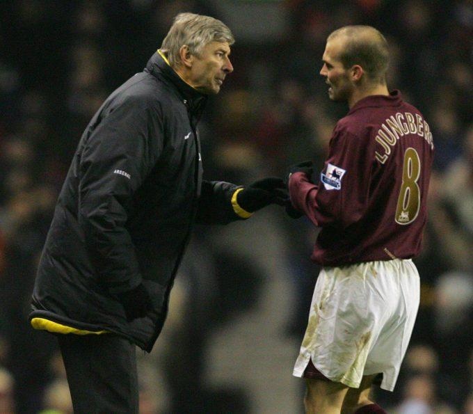 Ljungberg là trụ cột của Arsenal trong những năm tháng rực rỡ nhất kỷ nguyên Arsene Wenger làm HLV CLB. Ảnh: PA