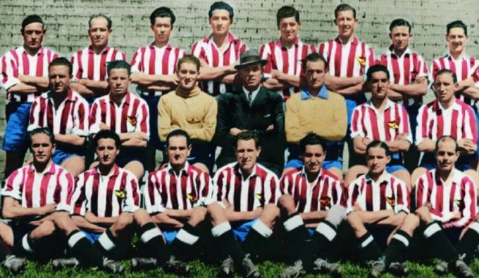 Đội hình Atletico vô địch La Liga mùa 1939-1940. Ảnh: AS