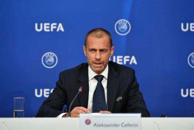 Chủ tịch Ceferin và UEFA chiến thắng trong cuộc chiến với Super League. Ảnh: Reuters.