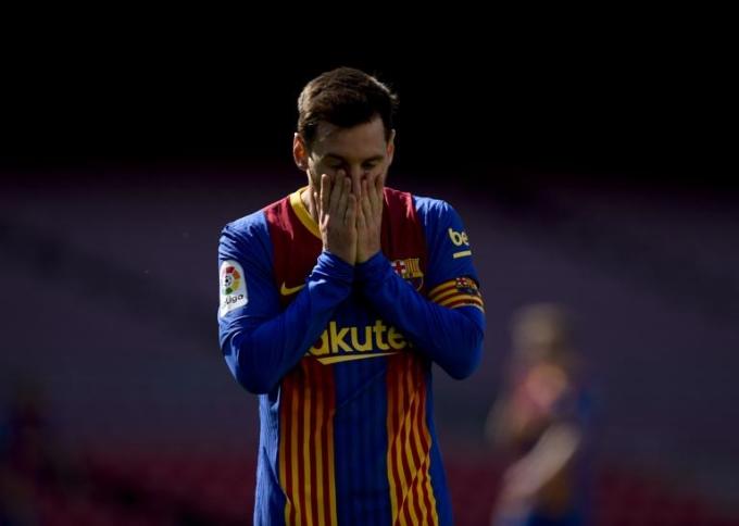 Barca của Messi đang ở tình thế ngặt nghèo hơn cả trên đường đua vô địch.