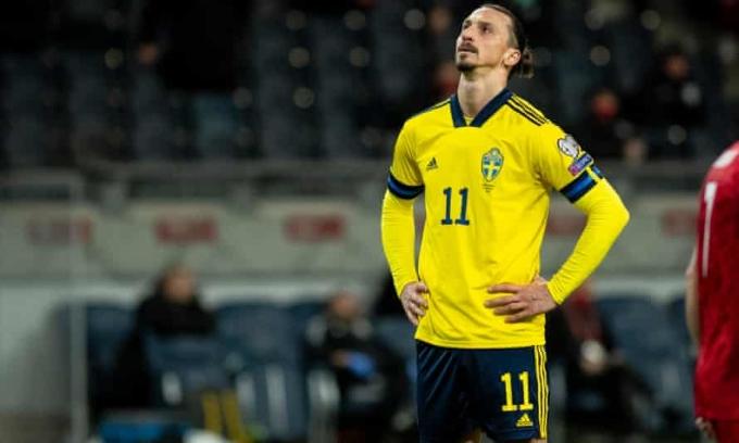 Ibrahimovic từng dự bốn kỳ Euro cùng Thụy Điển. Ảnh: Goal.