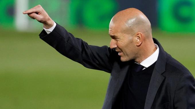 Zidane đã giành ba Champions League và hai La Liga trong vai trò HLV Real. Ảnh: EPA.