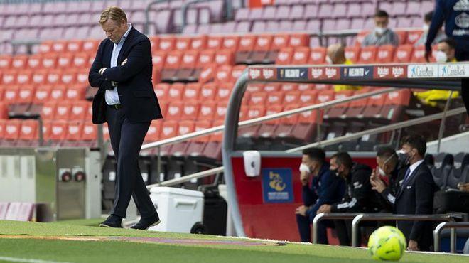 Koeman chỉ giành Cup Nhà vua mùa này với Barca. Ảnh: Diario Sport.