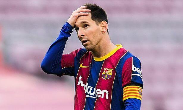 Messi ghi năm bàn trong năm trận gần nhất để chạm mốc 30 bàn tại La Liga, nhưng Barca vẫn liên tiếp rơi điểm. Ảnh: EPA