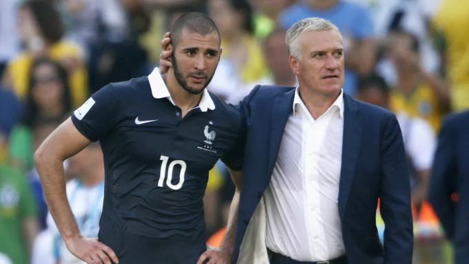 Benzema từng là học trò cưng của Deschamps ở World Cup 2014 - nơi tuyển Pháp của họ vào tới tứ kết. Ảnh: Reuters