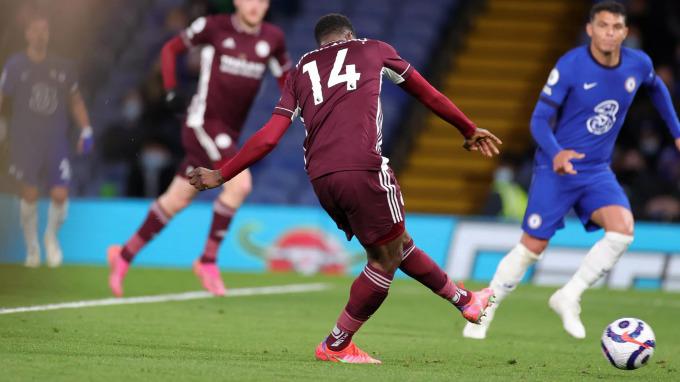 Iheanacho ghi bàn ở phút 76, nhưng không đủ giúp Leicester thoát thua. Ảnh: LCFC