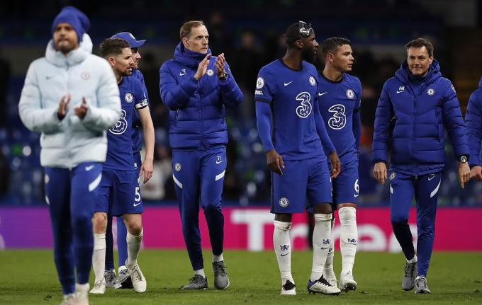 Tuchel hài lòng khi Chelsea kịp đứng dậy sau thất bại ở FA Cup. Ảnh: EPA.