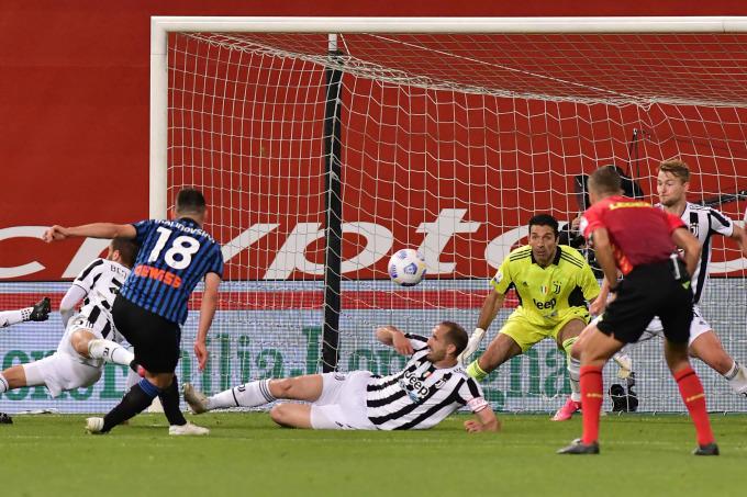 Atalanta là đội ghi bàn nhiều nhất tại Serie A mùa này với 90 bàn, nhưng trên sân Mapei hôm qua, họ chỉ một lần chọc thủng lưới Juventus - nhờ công Malinovskyi. Ảnh: ANSA