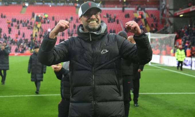 Thầy trò Klopp thắng 20, hòa chín, thua chín trận Ngoại hạng Anh 2020-2021. Ảnh: Sky.