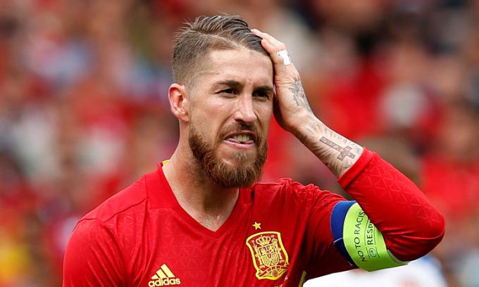 Ramos đã chơi 180 trận cho đội tuyển Tây Ban Nha, ghi 23 bàn. Ảnh: Reuters