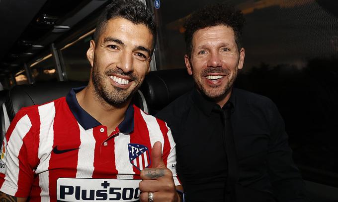 Niềm tin mà HLV Simeone dành cho anh là lý do khiến Suarez nhận lời gia nhập Atletico trong hè 2020. Ảnh: Twitter / Atletico