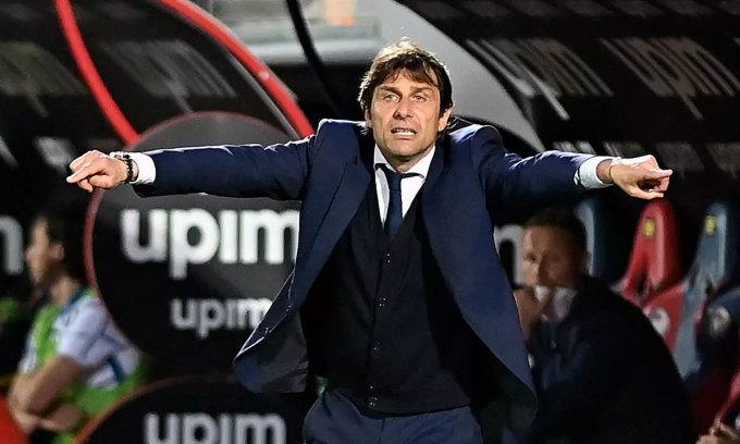 Conte có thể rời Inter chỉ vài tuần sau khi giúp CLB chấm dứt chín năm thống trị Serie A của Juventus. Ảnh: AFP.