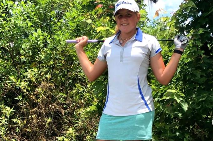 Kovelesky là golfer trẻ nhất tranh tài ở US Womens Open. Ảnh: Instagram / Chloe Kovelesky