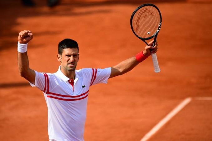Djokovic thắng trận thứ 350 tại Grand Slam. Ảnh: AP