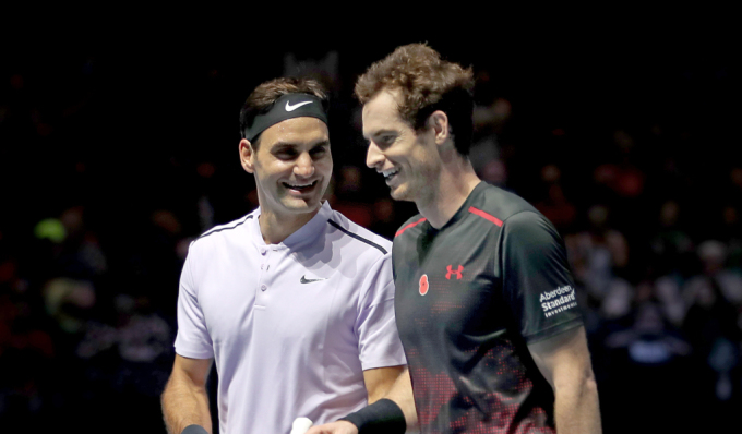Federer và Murray cùng dính những chấn thương nặng trong giai đoạn cuối sự nghiệp. Ảnh: ATP