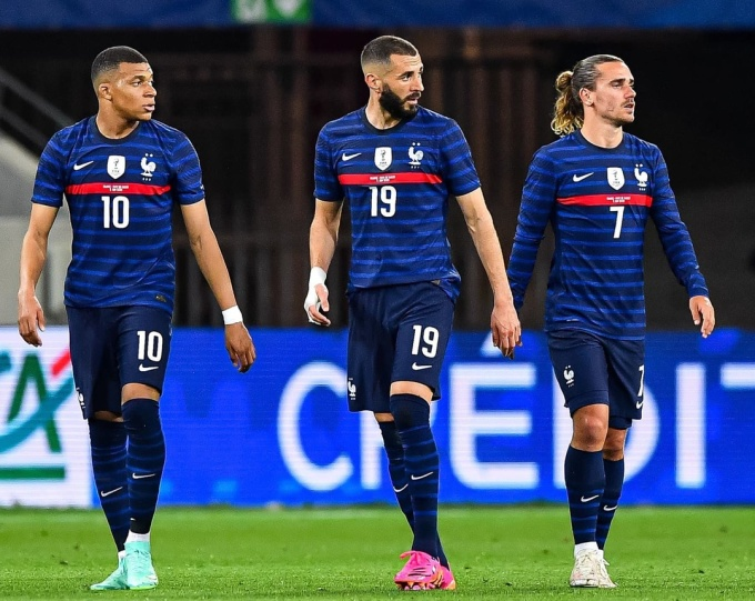 Hàng công Pháp quy tụ Mbappe, Benzema và Griezmann. Ảnh: Reuters.
