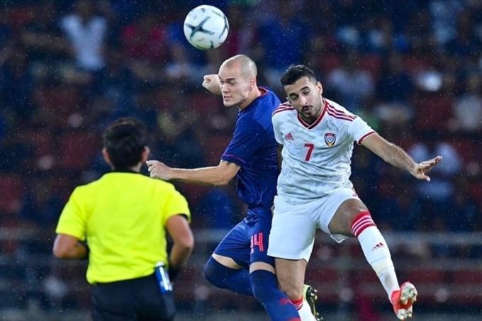 Thái Lan (xanh) mới giành chín điểm sau bảy trận. Ảnh: AFC
