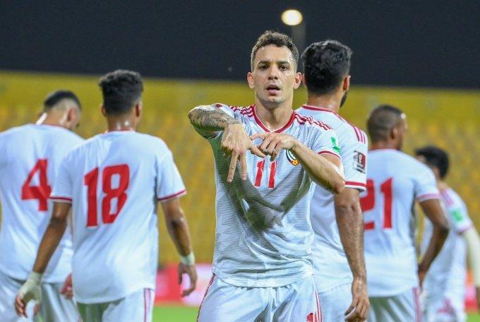 De Lima mừng bàn nâng tỷ số. Ảnh: AFC
