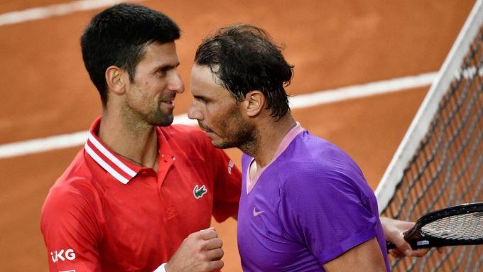 Nadal và Djokovic có thể gặp nhau ở bán kết nếu cùng thắng hôm nay. Ảnh: ATP