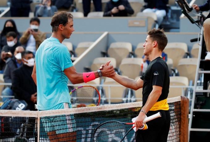 Chiều cao khiêm tốn 1,7m của Schwartzman thường bị Nadal khai thác trong 11 lần gặp nhau. Ảnh: ATP