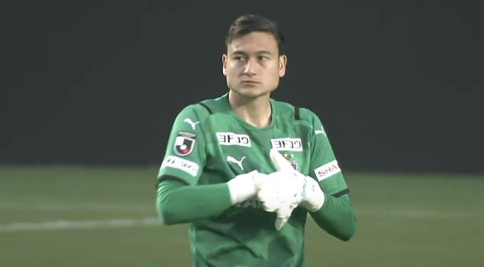 Văn Lâm không gặp nhiều khó khăn ở trận ra mắt Cerezo Osaka. Ảnh: chụp màn hình