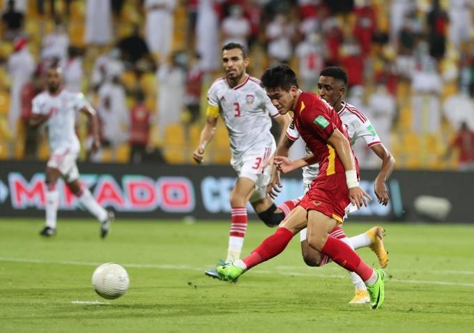 Tiến Linh ghi năm bàn trong sáu trận gần nhất ở vòng loại World Cup. Ảnh: Lâm Thoả.