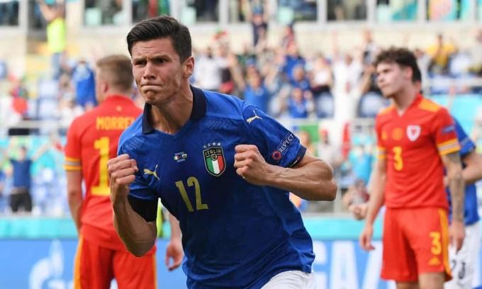 Pessina ghi bàn trong trận thứ hai khoác áo Italy. Ảnh: Reuters