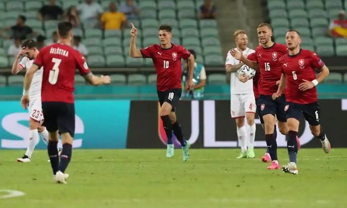 Schick tiếp tục thể hiện duyên ghi bàn tại Euro 2021 nhưng không đủ để giúp CH Czech đi tiếp. Ảnh: EPA.