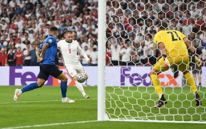 Bàn thua sớm của Italy. Ảnh: UEFA