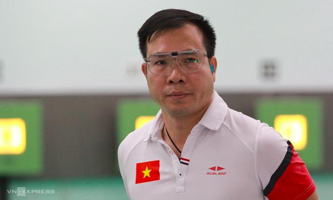 Nhiệm vụ vào chung kết Olympic Tokyo với Hoàng Xuân Vinh có lẽ còn khó hơn khi anh đoạt HC vàng Olympic 2016. Ảnh: Xuân Bình