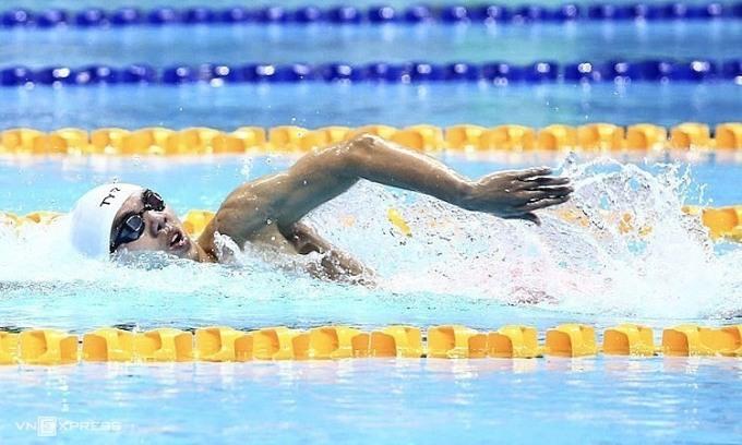 Kình ngư 21 tuổi Nguyễn Huy Hoàng có thể thành kình ngư đầu tiên của Việt Nam vào chung kết Olympic. Ảnh: Phạm Đương