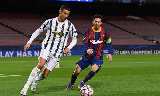 Ronaldo trong trận Juventus gặp Barca vào tháng 12 năm ngoái. Ảnh: Reuters.