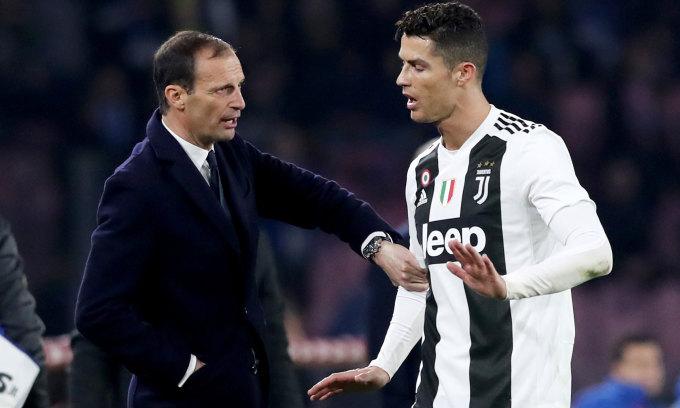 Allergi được khuyên trọng dụng Ronaldo để tái thiết Juventus từ mùa tới. Ảnh: imago